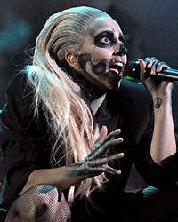Lady Gaga performing on The Grammy Nominations Concert Live!