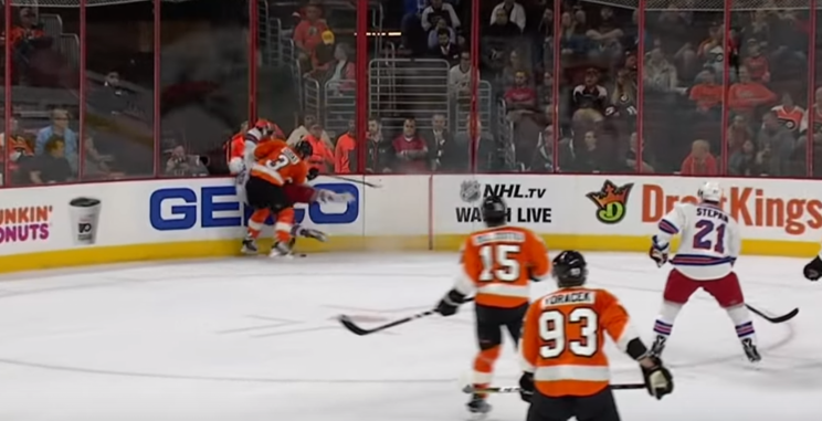 Jimmy Vesey Crushed, Flyers' Gudas Ejected, Suspension Coming? (video)