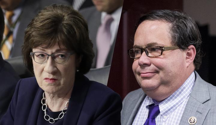 Sen. Collins caught on hot mic swiping back at 'unattractive' congressman's duel challenge
