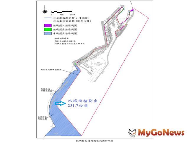 行政院已核准花蓮港港區範圍調整案,公告後即可實施(圖:交通部)