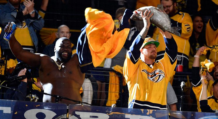 Titans Continue Beer-chugging Routine In Game 2 Vs. Penguins