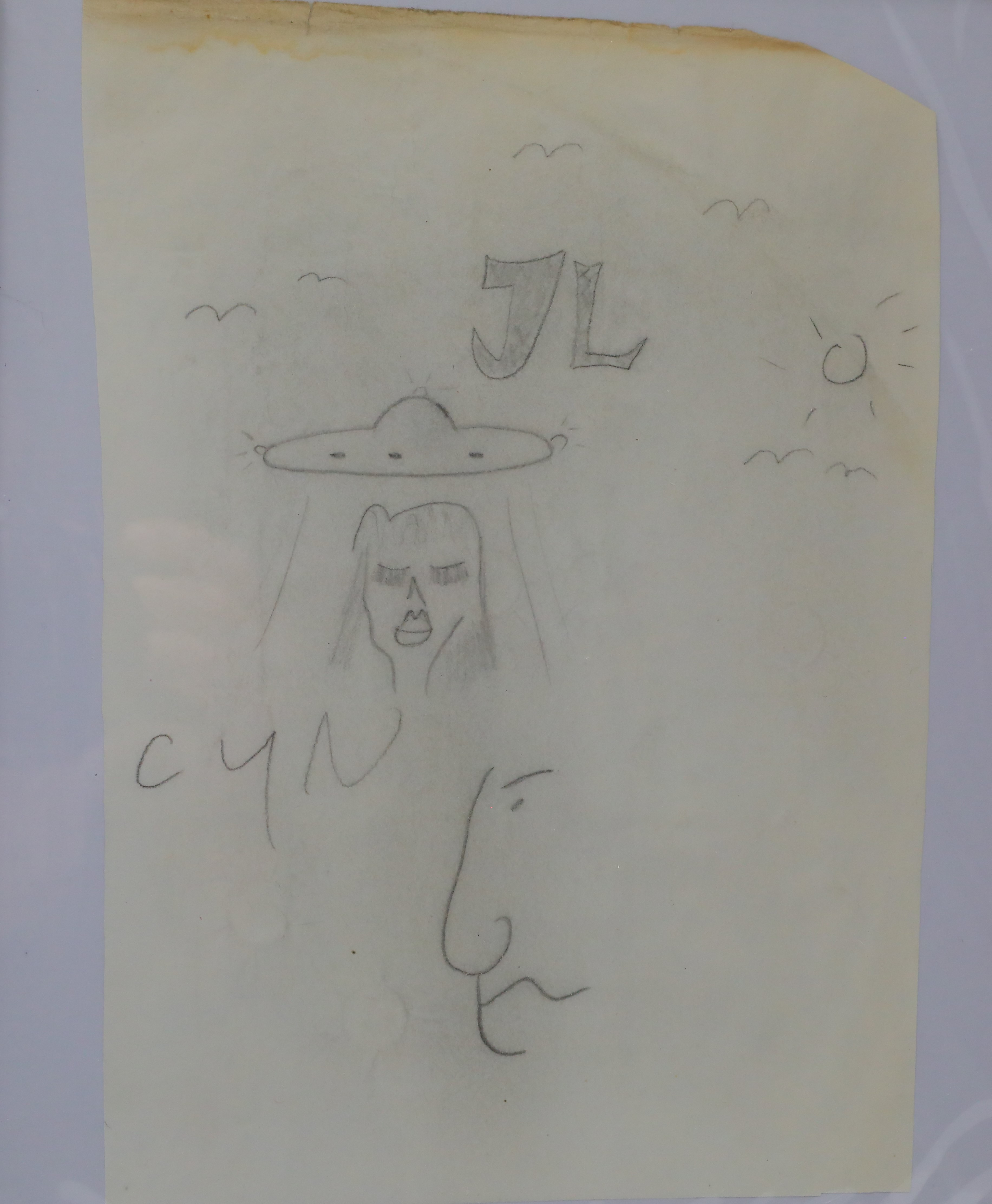 John Lennon drew this sketch of a UFO. (Photo: GWS Auctions)
