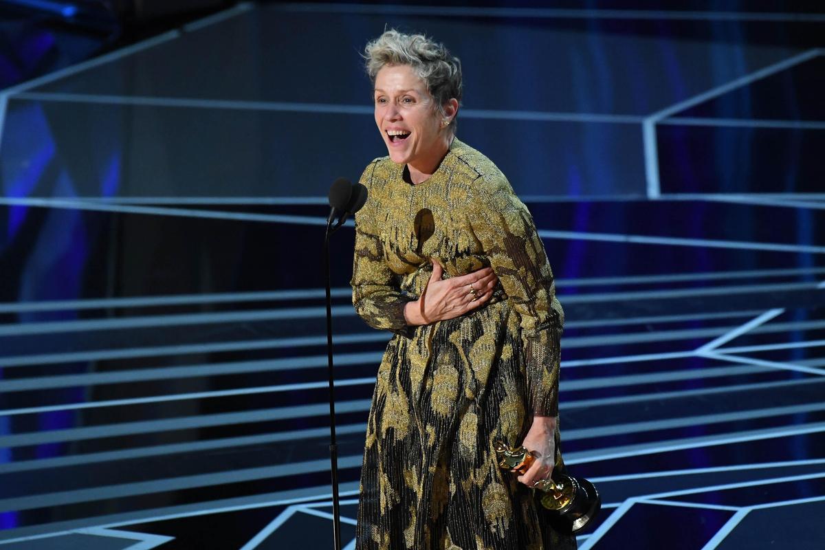 法蘭西絲麥朵曼以《意外》中憤怒的母親一角奪得最佳女主角。(東方IC)
