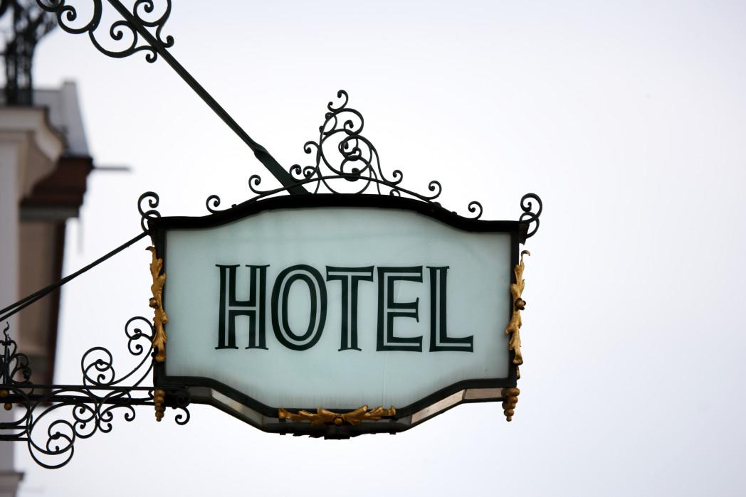 Hotel billboard