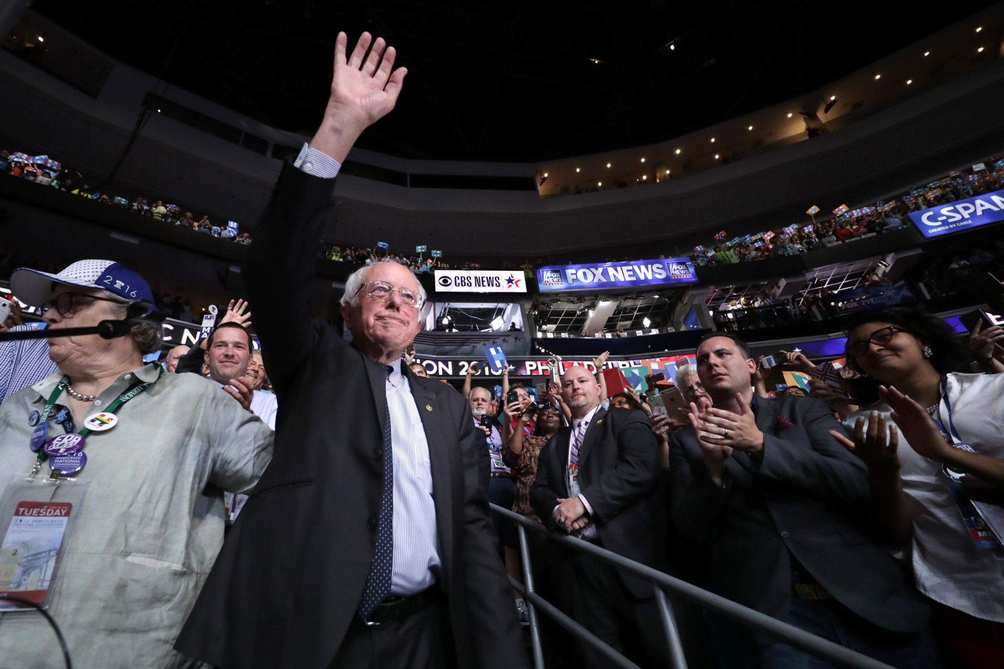 Bye-bye, Bernie. It's Hillary's convention now.