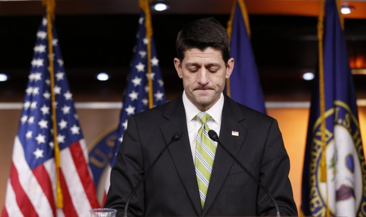 Republicans stand behind Paul Ryan after he fumbles first big vote