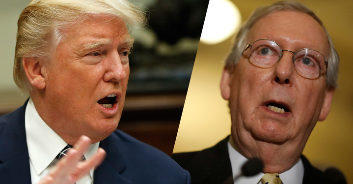 The White House and Mitch McConnell's office tell very different stories about the failure of the health care bill