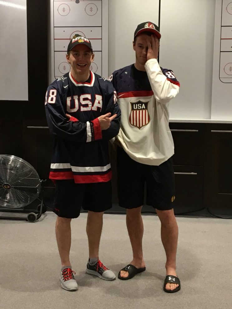 WJC: Jonathan Toews Honors Tournament Bet With Patrick Kane, Wears Team USA Jersey