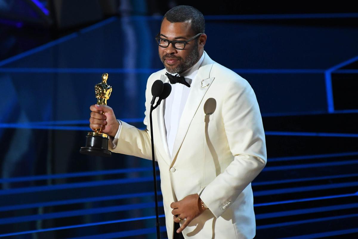 知名喜劇演員Jordan Peele編劇並執導《逃出絕命鎮》,以此奪得最佳原創劇本獎。(東方IC)