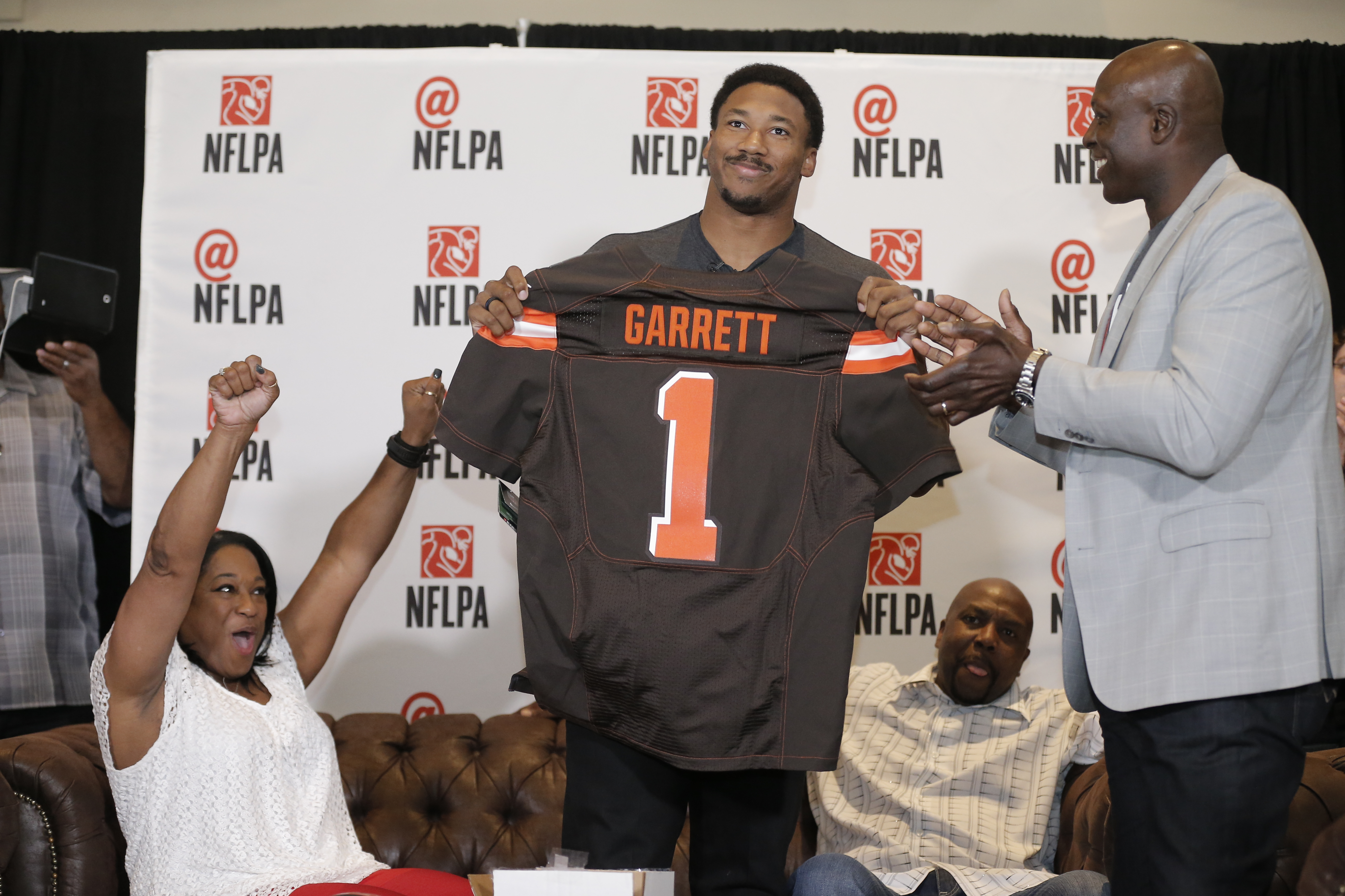 The Browns wrestled with the top NFL draft pick down to the 11th hour before settling on defensive lineman Myles Garrett. (AP)