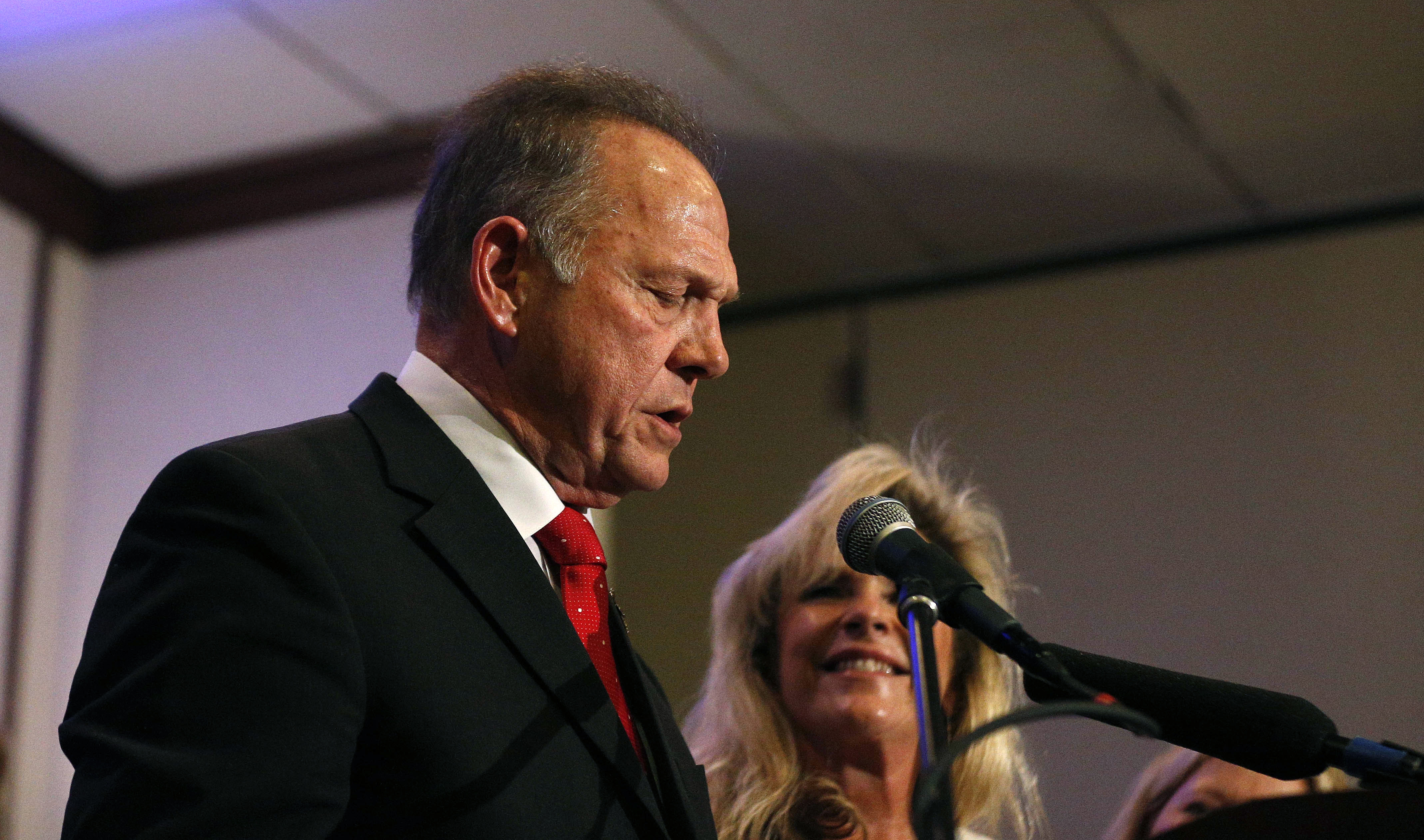 All hail Roy Moore at 'pro-family' rally, while accusations pile up