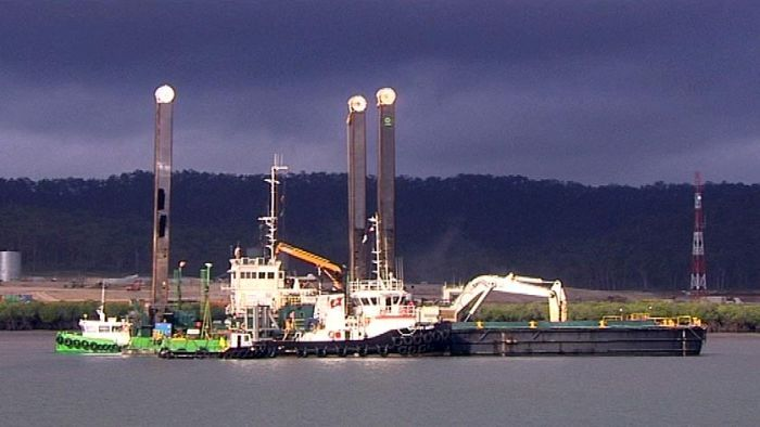 The port is dredged to make room for the shipping of liquefied natural gas.
