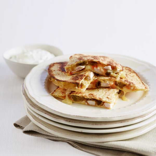 Sweet and spicy chicken quesadillas recipe