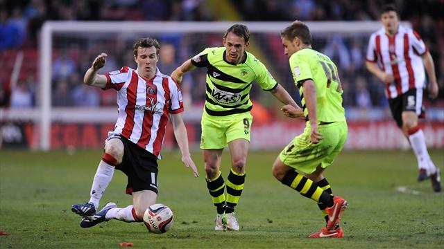 League One - Sheffield United grab play-off edge over Yeovil