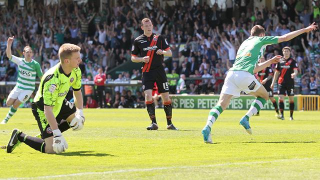 League One - Late winner sends Yeovil to Wembley