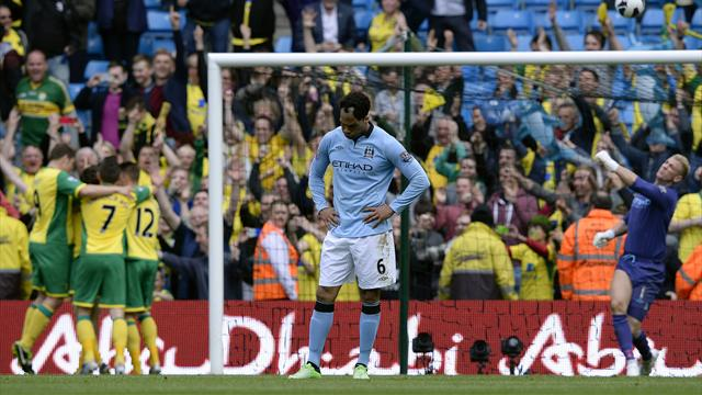 Premier League - Norwich deservedly win five-goal thriller at City