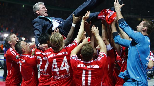 Bundesliga - Cup final victory hands Bayern historic treble