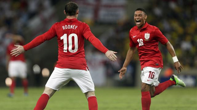 International friendlies - Ox-inspired England hit back in style to earn draw in Brazil