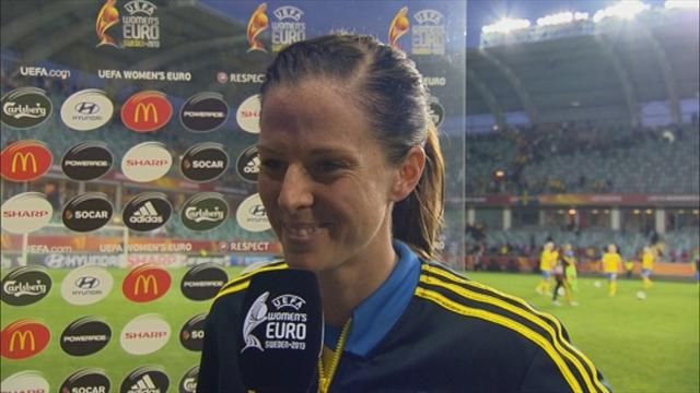 Women's Euro - Schelin hits double as hosts Sweden thump Finland