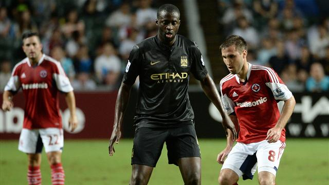 Friendly Match - Man City scratch out win in Hong Kong