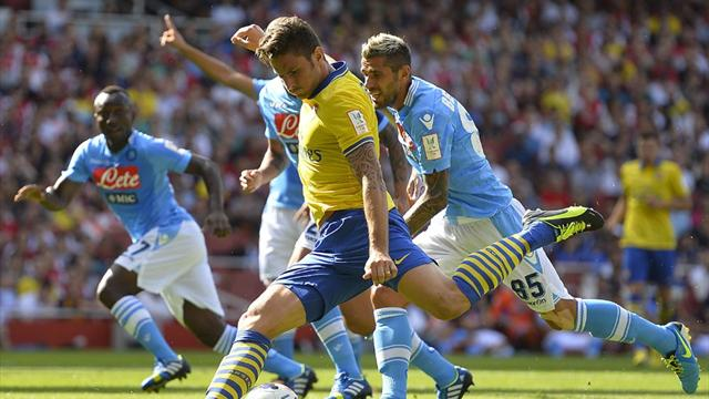 Premier League - Arsenal salvage draw with Napoli