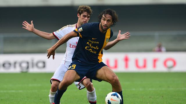 Serie A - Toni heads brace as new boys Verona stun Milan