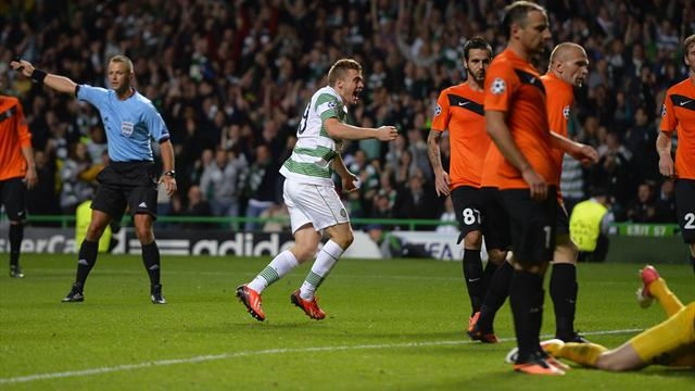 Champions League - Injury time winner sends Celtic into group stage