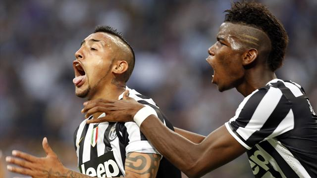 Serie A - Vidal ensures Juventus point at Inter
