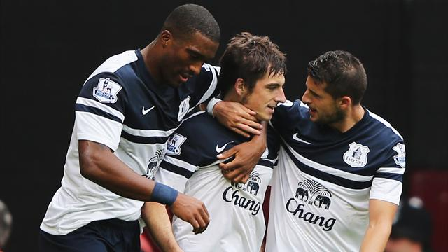 Premier League - Baines, Lukaku inspire Everton win