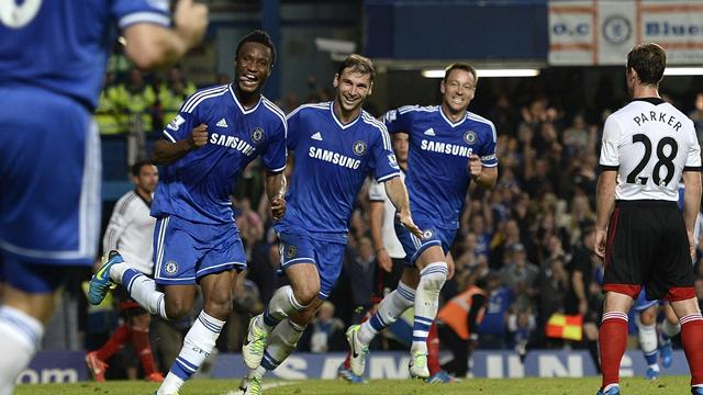 Premier League - Chelsea go top as Mikel ends seven-year wait for goal
