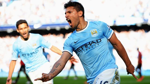 Premier League - City thump United in frantic Manchester derby