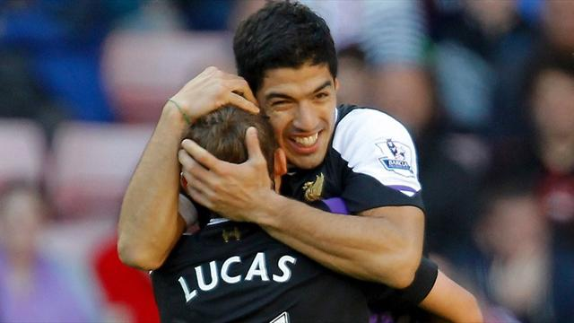 Premier League - Suarez bags brace as Liverpool beat plucky Sunderland