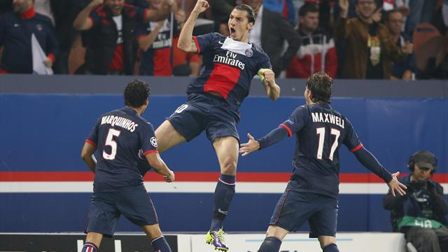 Champions League - Zlatan at the double as PSG hammer Benfica
