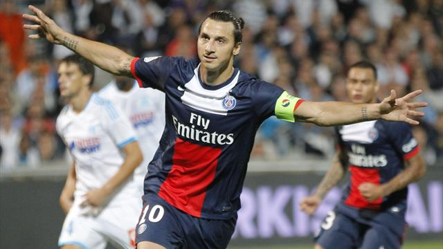Ligue 1 - Ibrahimovic penalty gives 10-man PSG victory in Marseille