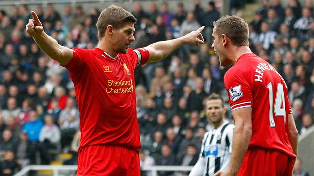 Premier League - Gerrard joins '100 club' as 10-man Newcastle hold Liverpool