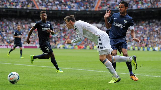 Liga - Bale wins disputed penalty in Real victory