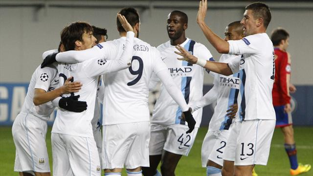 Champions League - Aguero double sees City sink CSKA