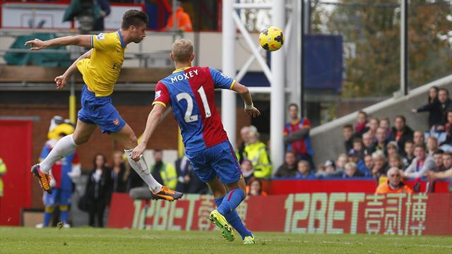 Premier League - Ten-man Arsenal see off brave Palace