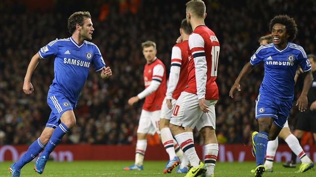 League Cup - Mata seals Chelsea spot in last eight at Arsenal's expense