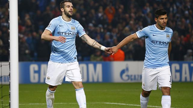Champions League - Negredo and Aguero fire City into last 16