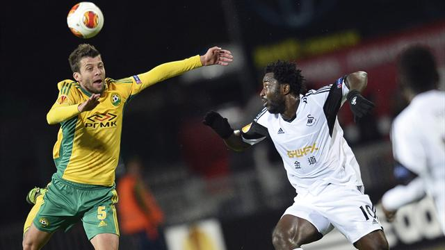 Europa League - Kuban Krasnodar strike late to deny Swansea