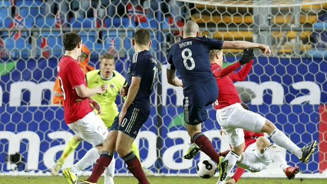 International friendlies - Scotland secure slender win over Norway