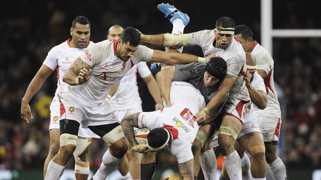Rugby - Wales celebrate Gatland's ton with win over Tonga