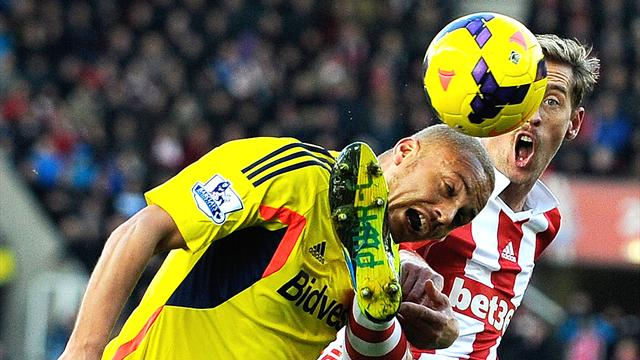 Premier League - Stoke City defeat Sunderland as Wes Brown sees red