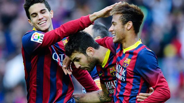 La Liga - Barcelona hit four past ten-man Granada