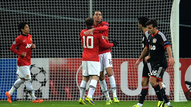 Champions League - United thrash Leverkusen to cruise into last 16