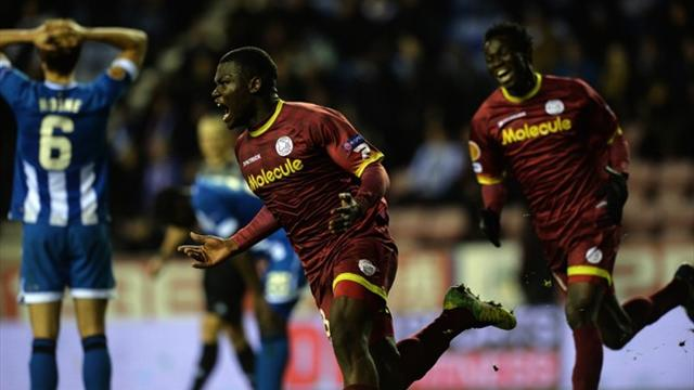 Europa League - Wigan sunk at death by Zulte Waregem