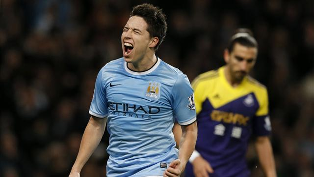Premier League - Nasri scores double as Man City beat Swansea