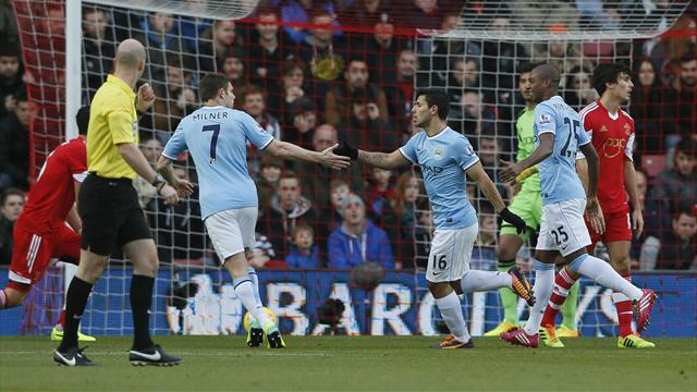 Premier League - City and Southampton share the spoils at St Mary's