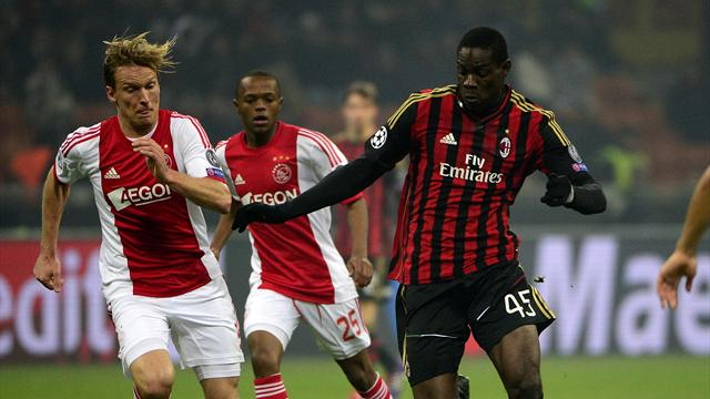 Champions League - Ten-man Milan hold on for draw with Ajax to qualify